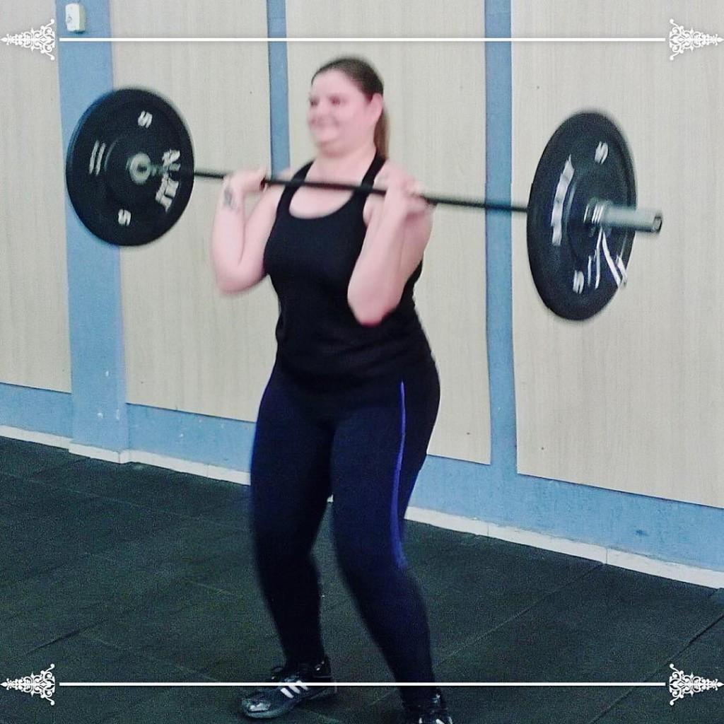 Crossfit crossfitararaquara crossfit cleanandjerk 20kg wod workout 1mes 1month